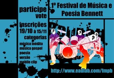 1º FESTIVAL DE MÚSICA E POESIA BENNETT