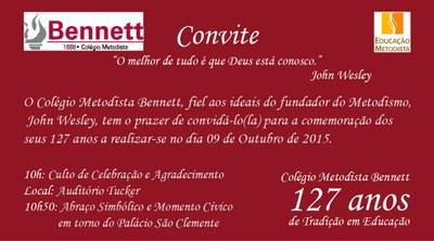CONVITE - ANIVERSÁRIO DO BENNETT