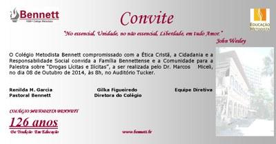 CONVITE - PALESTRA