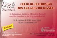 CULTO DE CELEBRAÇÃO AOS 123 ANOS DO BENNETT