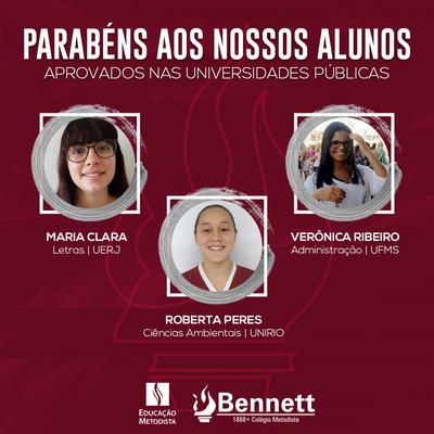 Alunos do Bennett são aprovados em vestibulares pelo Brasil