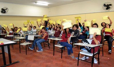 Representantes de turma recebem posse para o ano de 2016